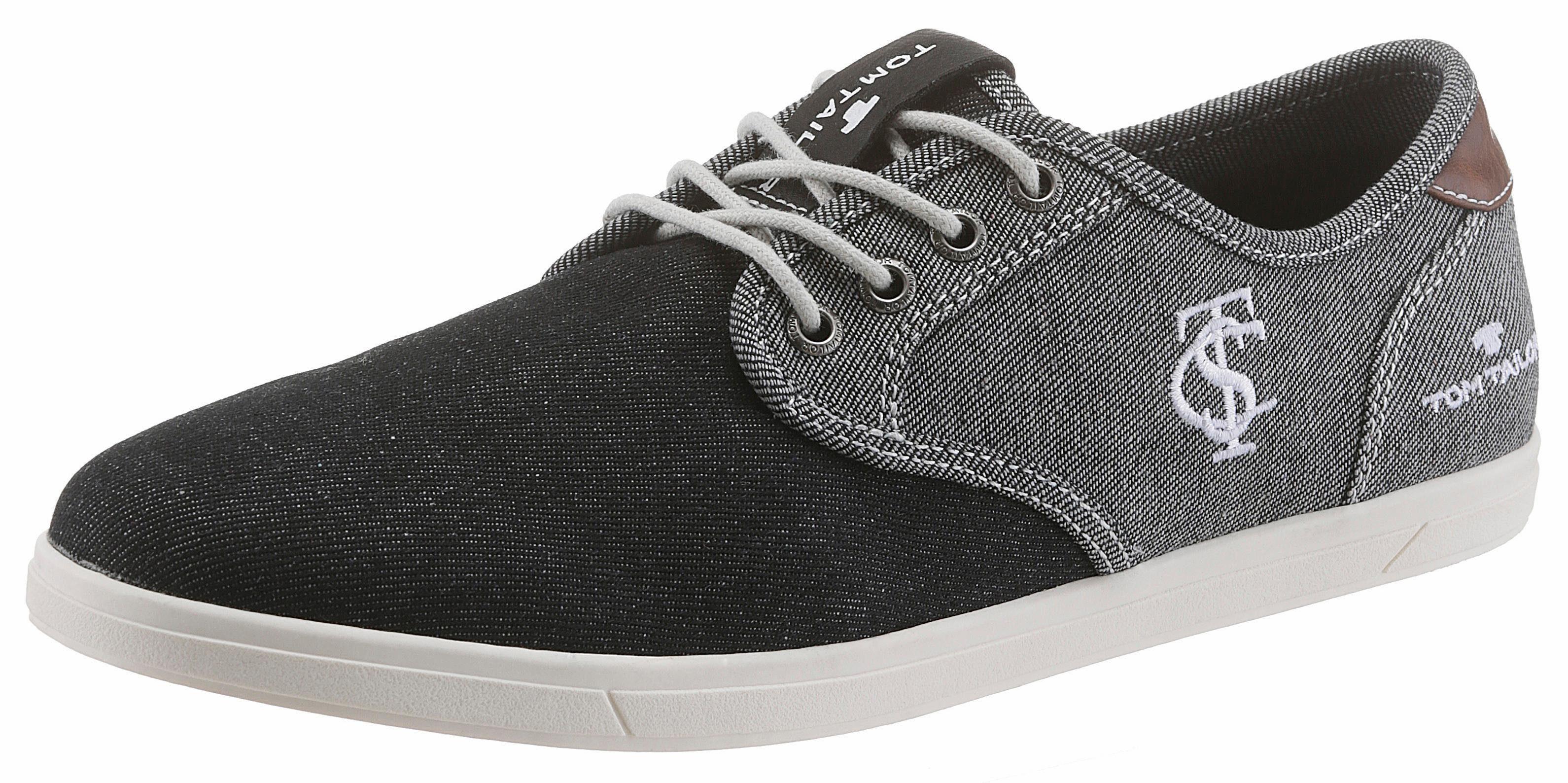 Tom Tailor Sneaker, im zweifarbigem Denim-Look, schwarz, 40 40
