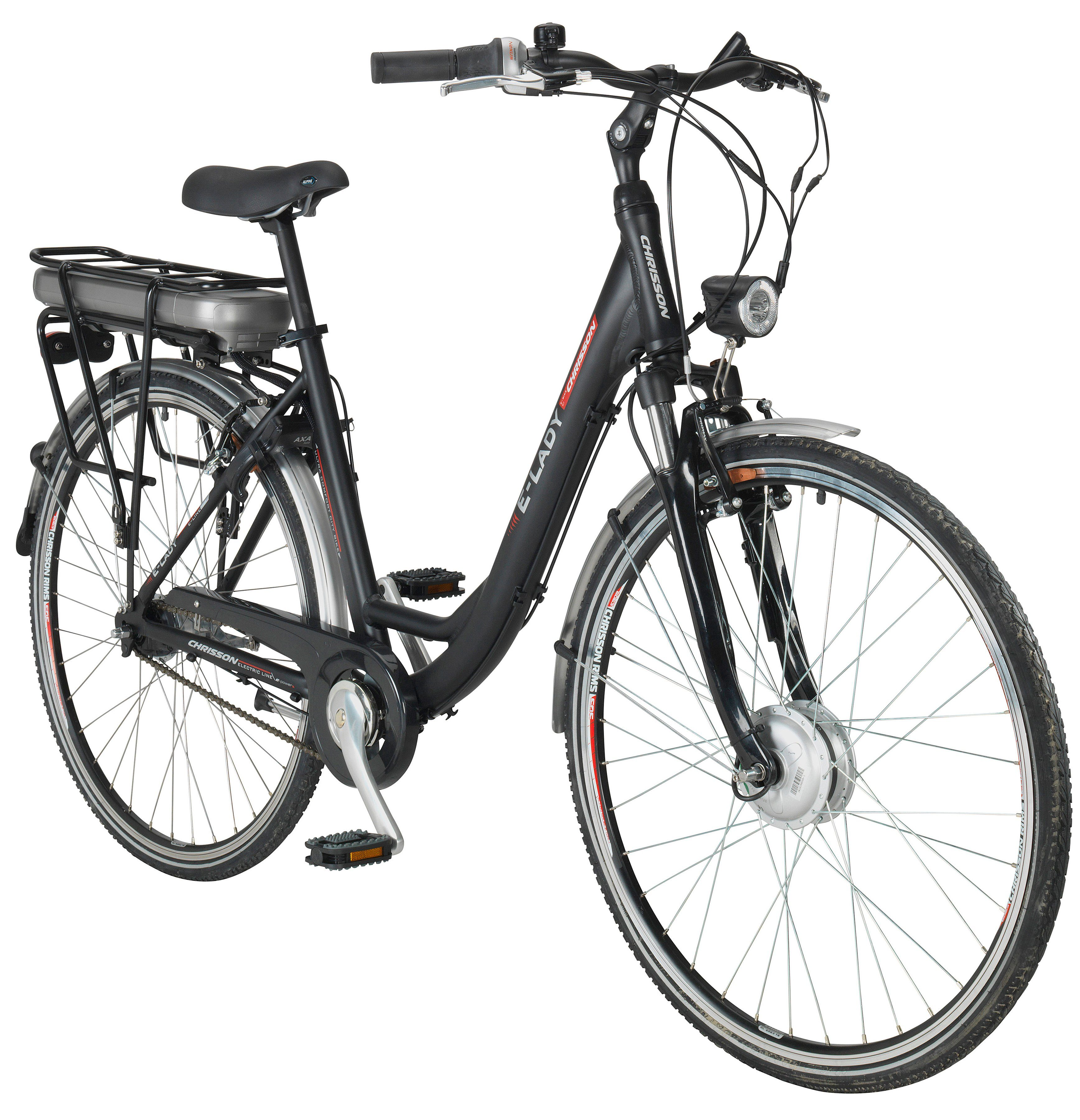 CHRISSON E-Bike City Damen »E-LADY «, 28 Zoll, 7 Gang, Frontmotor, 482 Wh