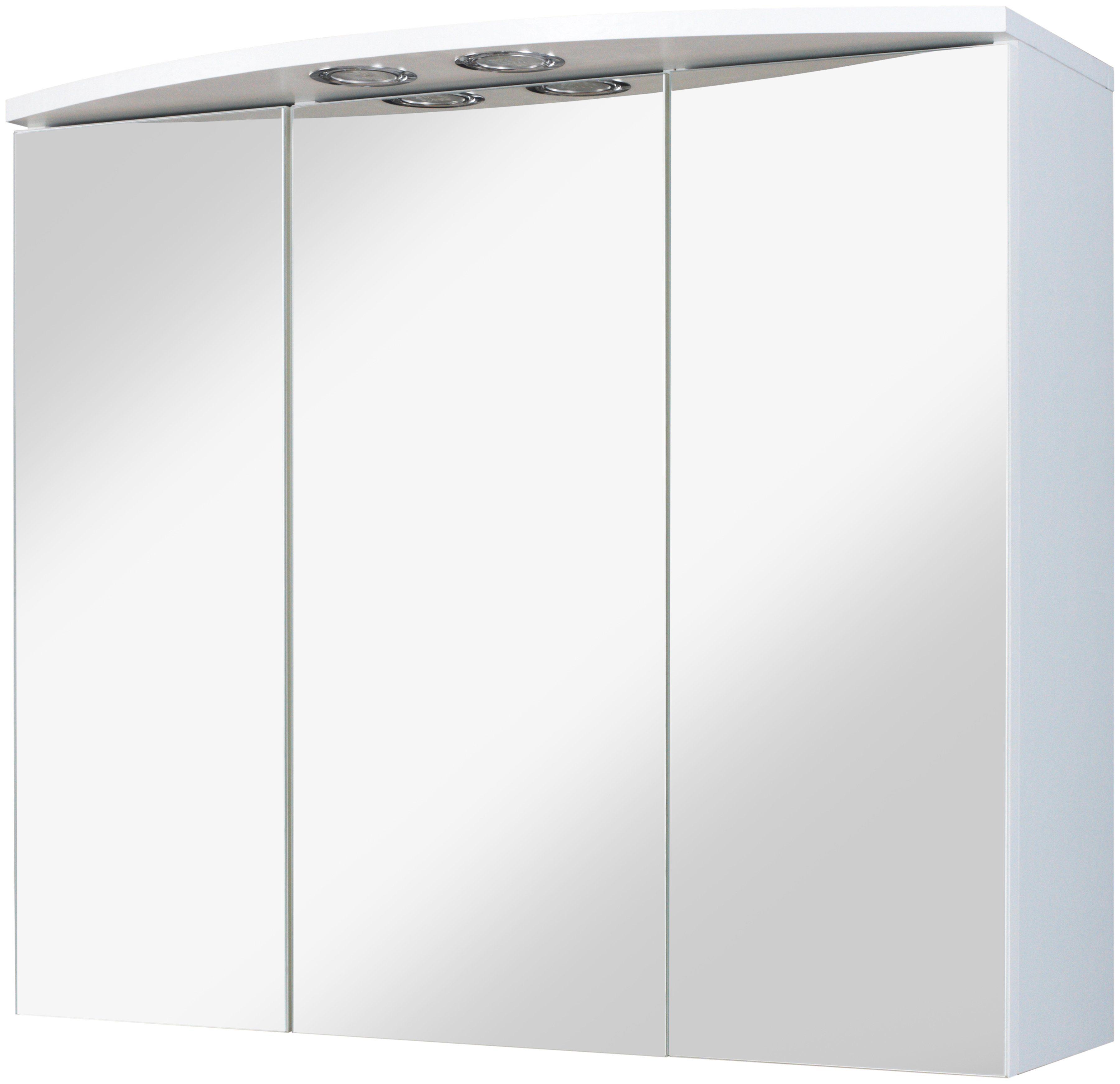 Spiegelschrank »Spiegelschrank Como Verona«, 70 cm Breite mit 3 Türen