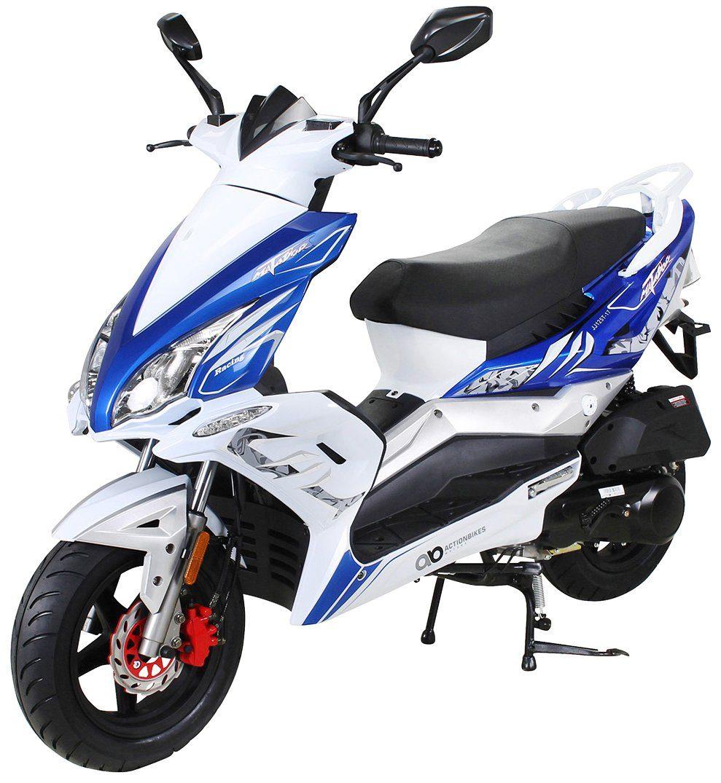 MIWEBA Motorroller »Matador JJ125QT-17«, 125 ccm, 85 km/h, blau-weiß