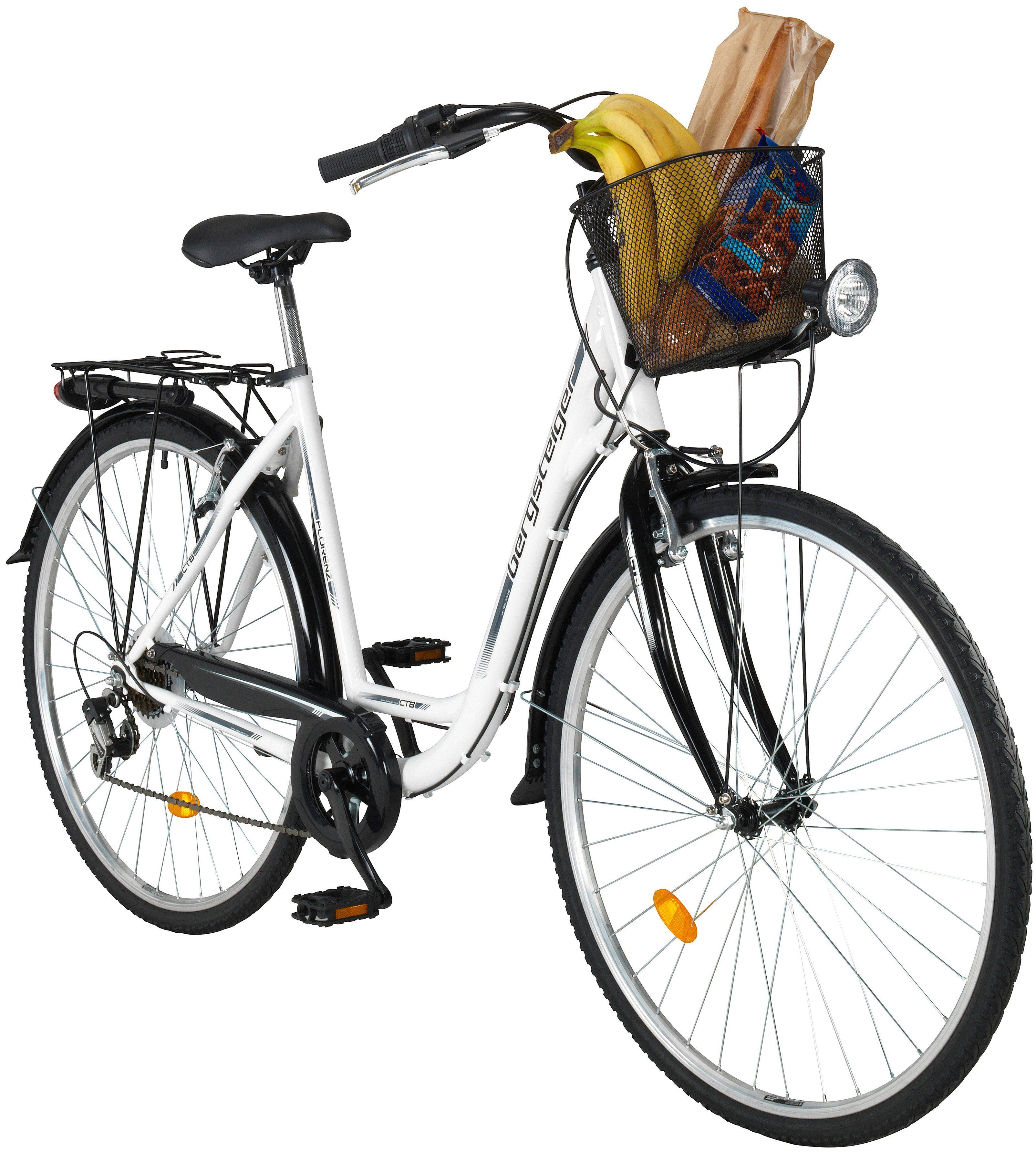 BERGSTEIGER Citybike Damen »Florenz«, 28 Zoll, 7 Gang, V-Bremsen