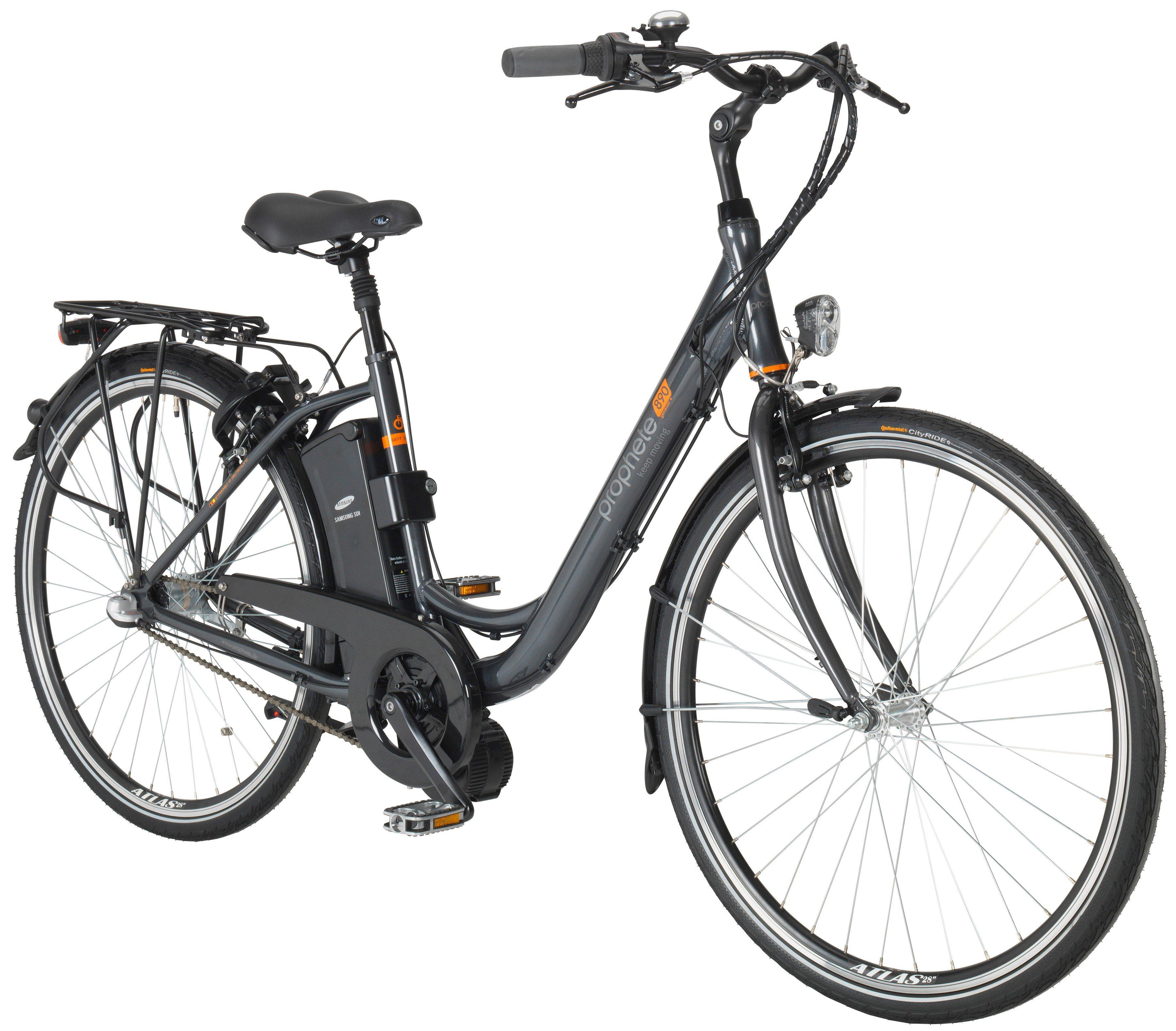 PROPHETE E-Bike City Damen »GENIESSER e890«, 28 Zoll, 3-Gang, Mittelmotor, 374 Wh