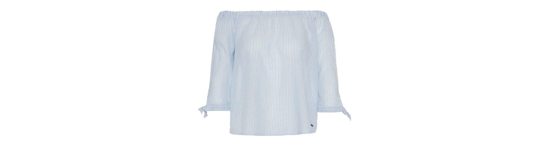 Neuer Günstiger Preis Outlet Beliebt Tom Tailor Denim Shirtbluse gestreifte Carmen-Bluse Auslass 2018 Unisex Günstig Kaufen Preise Mit Mastercard 7sGvwdD0