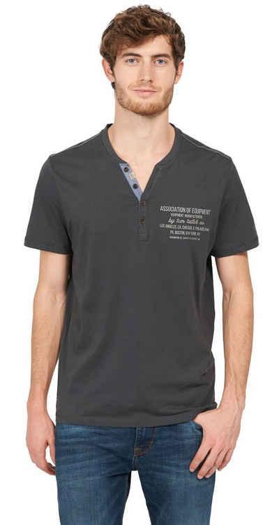 Tom Tailor T-Shirt »mit Schrift-Print« Sale Angebote Griesen