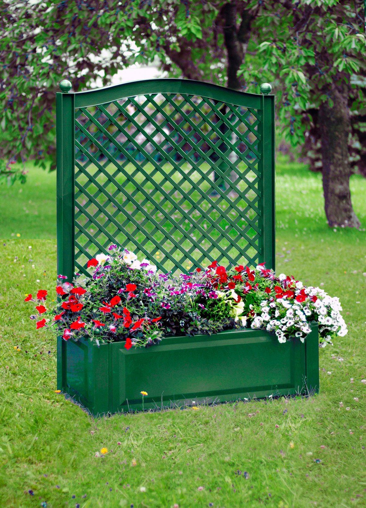 Spalier »mit Pflanzkasten 100cm, grün« | Garten > Pflanzen > Pflanzkästen | KHW