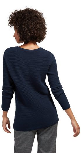 Tom Tailor Strick Pullover Sweater With Stripe Structure
