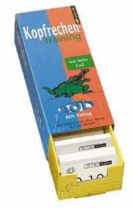 Allgemeine Handelsware »Kopfrechentraining, Das kleine 1 x 1, m. Lernbox«