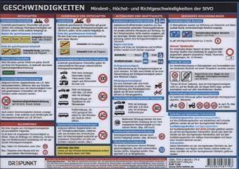 Allgemeine Handelsware »Geschwindigkeiten, Info-Tafel«