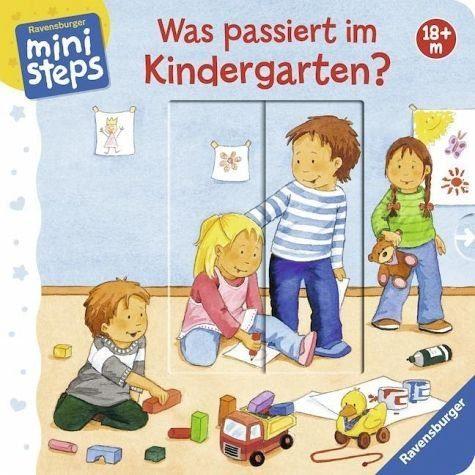 Buch mit Papp-Einband »Was passiert im Kindergarten?«