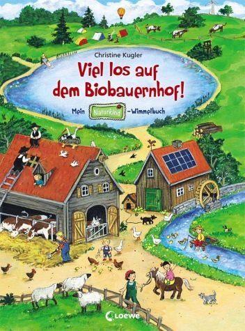 Buch mit Papp-Einband »Viel los auf dem Biobauernhof!«