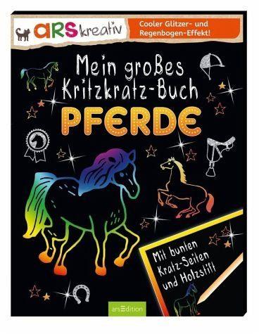 Broschiertes Buch »Mein großes Kritzkratz-Buch Pferde«