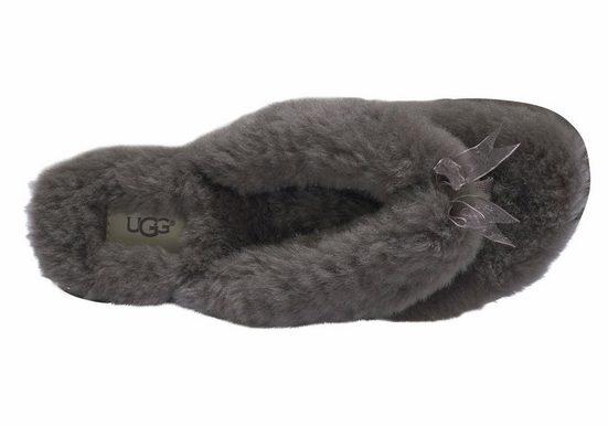 Ugg Fluff Flip Flop Séparateur 2 Orteils, Avec Lanière En Tissu