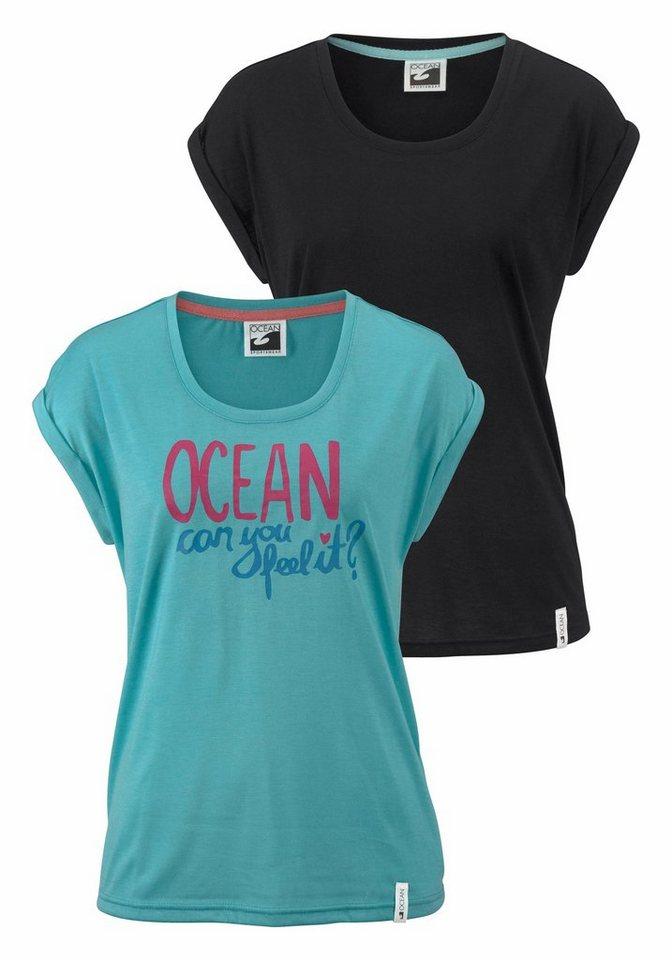 Ocean Sportswear T-Shirt (Packung, 2-tlg., 2er-Pack) | Sportbekleidung > Sportshirts > T-Shirts | Schwarz | Ocean Sportswear