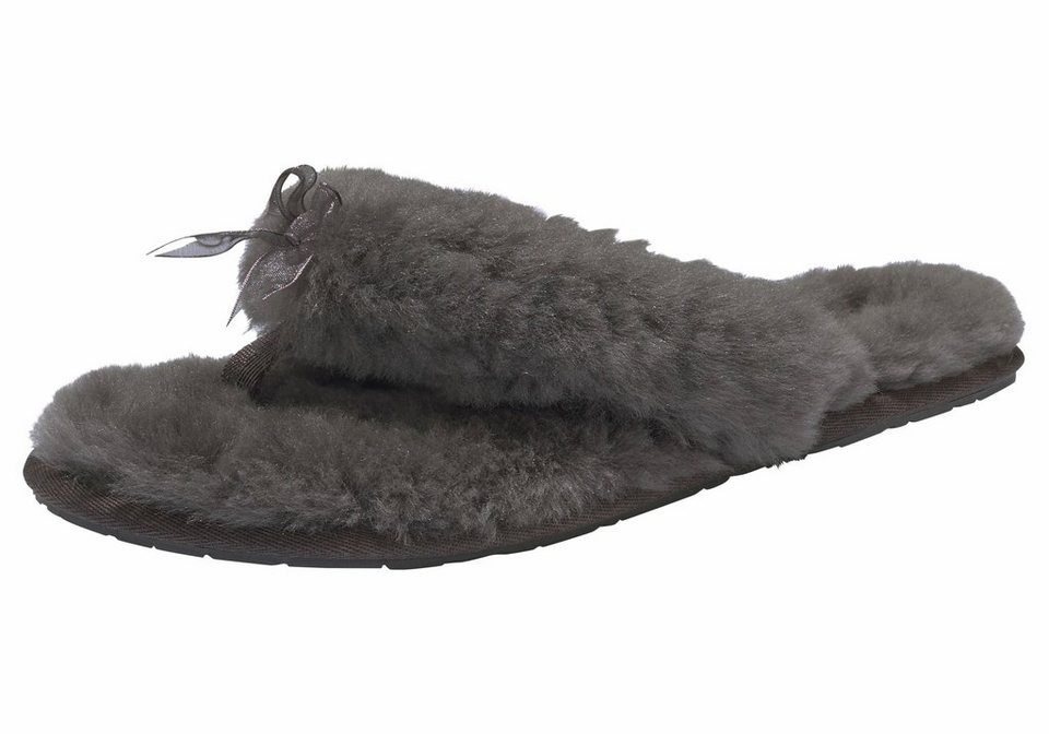 ugg fluff flip flop 2 zehentrenner mit zehensteg aus stoff online kaufen otto. Black Bedroom Furniture Sets. Home Design Ideas