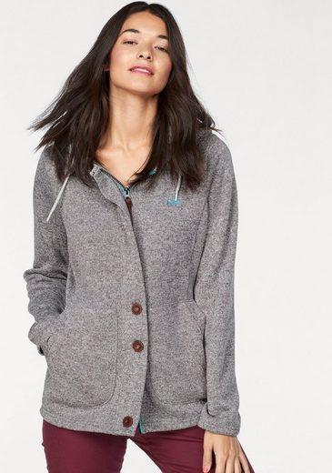 Ocean Sportswear Knitting Fleece Jacket, Hood Lining Of Plush Teddy
