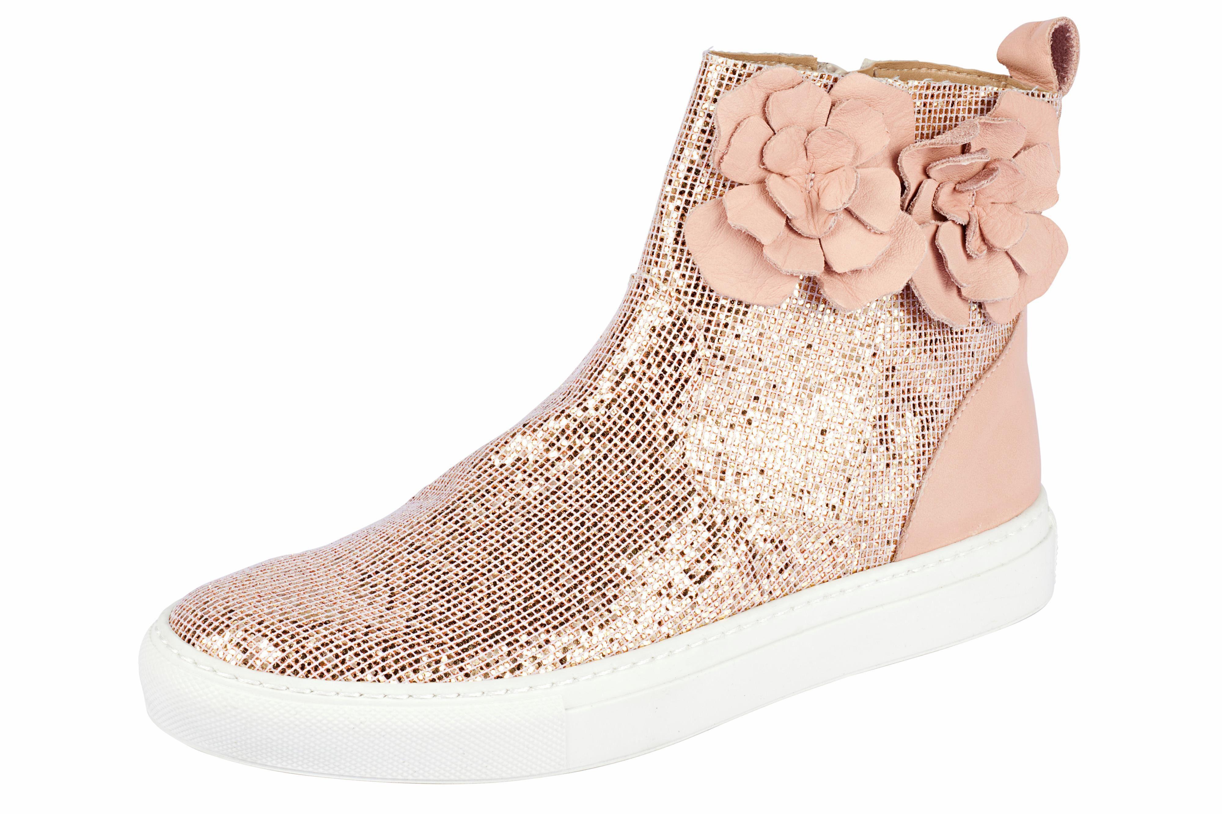 Heine Stiefelette mit Glitter online kaufen  rosa