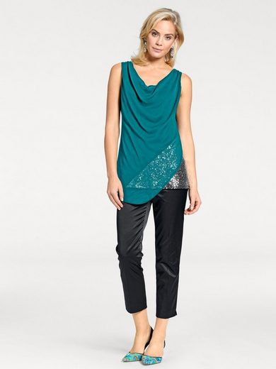 ASHLEY BROOKE by Heine Shirttop mit Pailletten