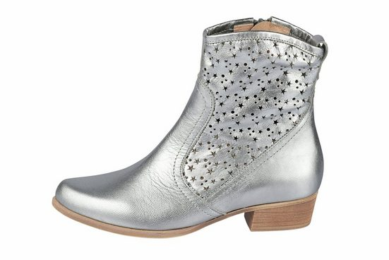 Heine Ankle Boot With Cut-dessin