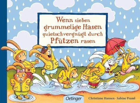 Buch mit Papp-Einband »Wenn sieben grummelige Hasen quietschvergnügt...«