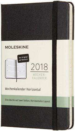 Gebundenes Buch »Moleskine 12 Monate Wochenkalender 2018...«