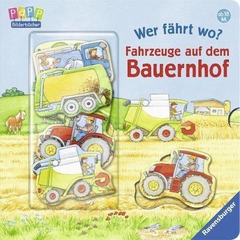 Buch mit Papp-Einband »Wer fährt wo? Fahrzeuge auf dem Bauernhof«