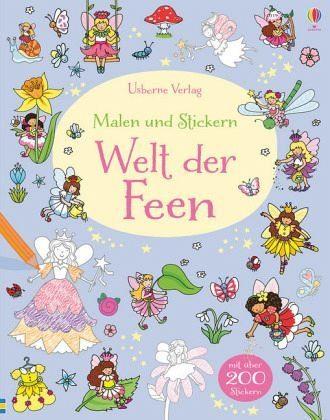 Broschiertes Buch »Malen und Stickern: Welt der Feen«