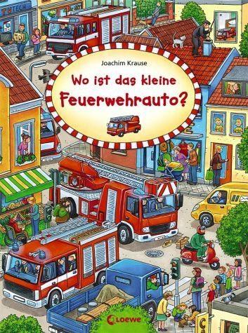 Buch mit Papp-Einband »Wo ist das kleine Feuerwehrauto?«