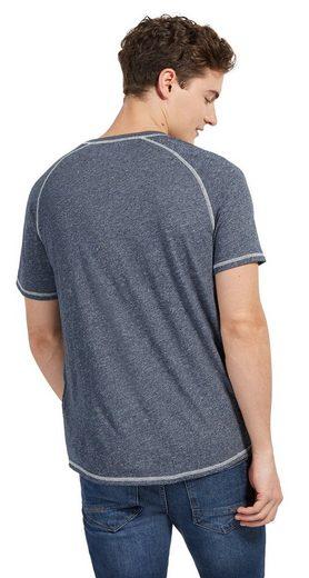Tom Tailor Denim T-Shirt in Melange-Optik mit Print