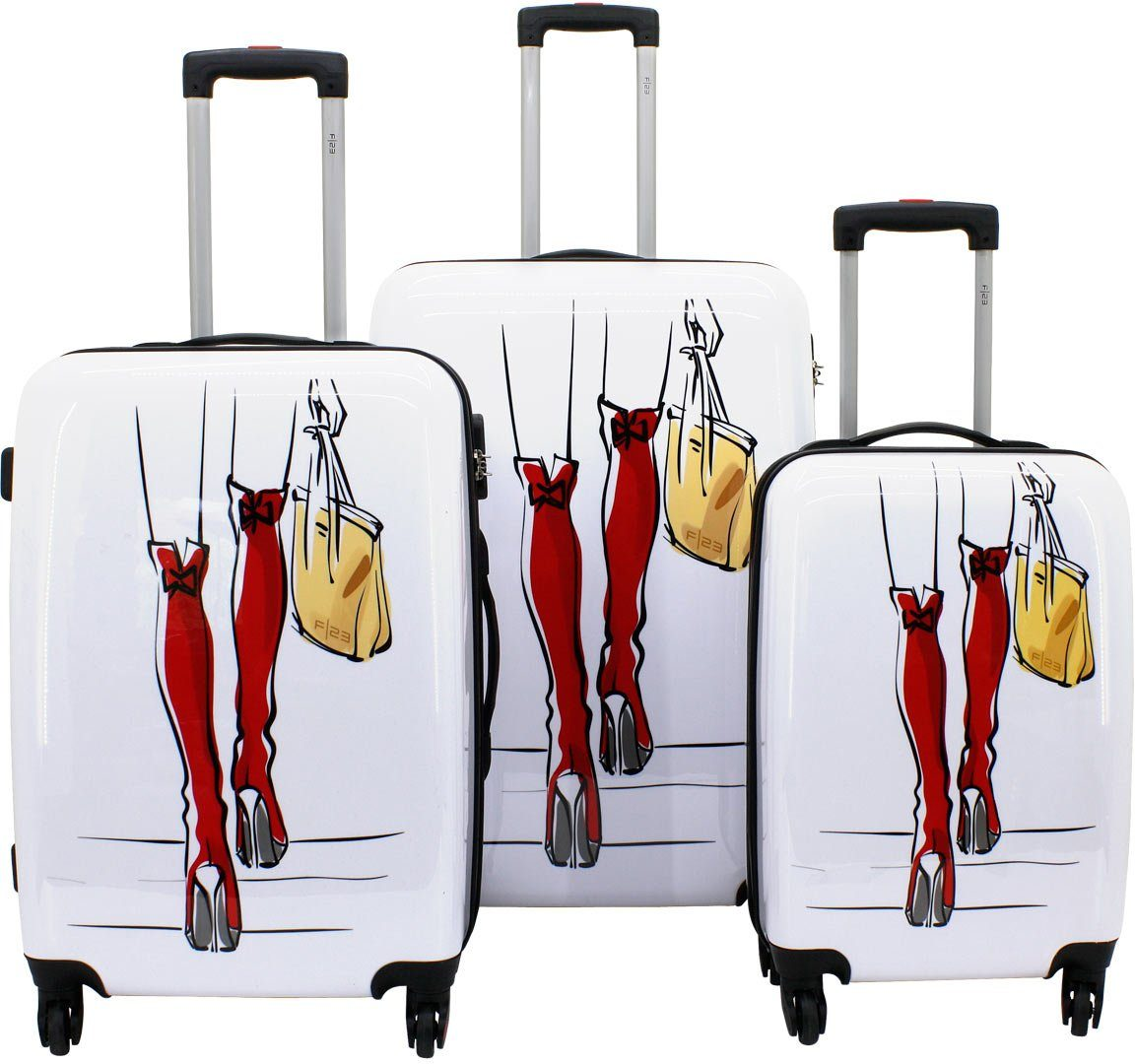 F23™, Trolley-Set mit 4 Rollen, »Sexy Legs« (3tlg.)