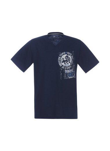 TRIGEMA V-Shirt mit Löwe