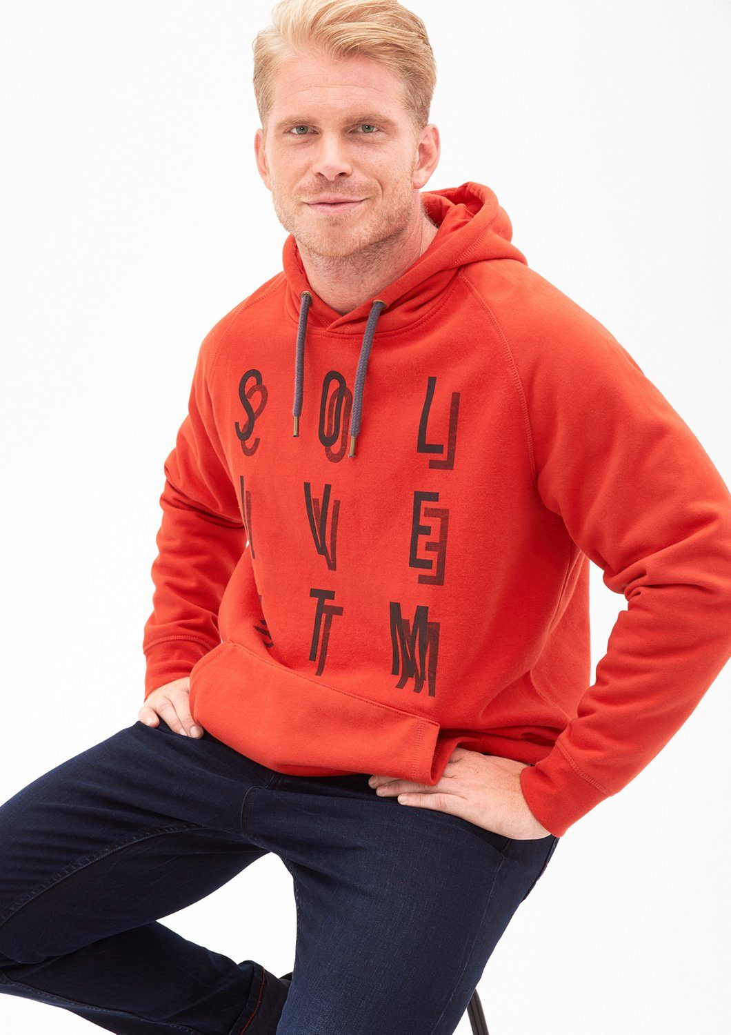 s.Oliver RED LABEL Hoodie mit Frontprint