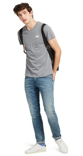 Tom Tailor Denim T-Shirt in Melange-Optik