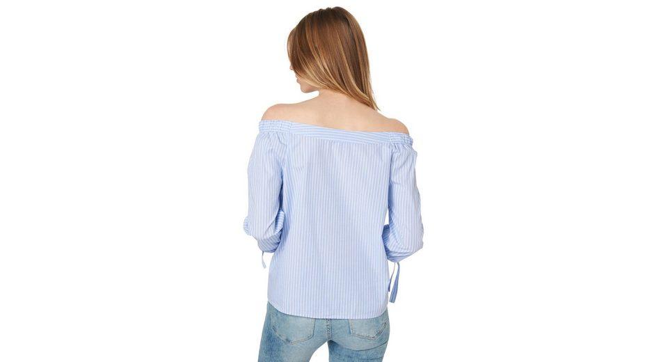 Outlet Kollektionen Auslass Veröffentlichungstermine Tom Tailor Denim Shirtbluse gestreifte Carmen-Bluse Billig Ausgezeichnet sq8lPU7