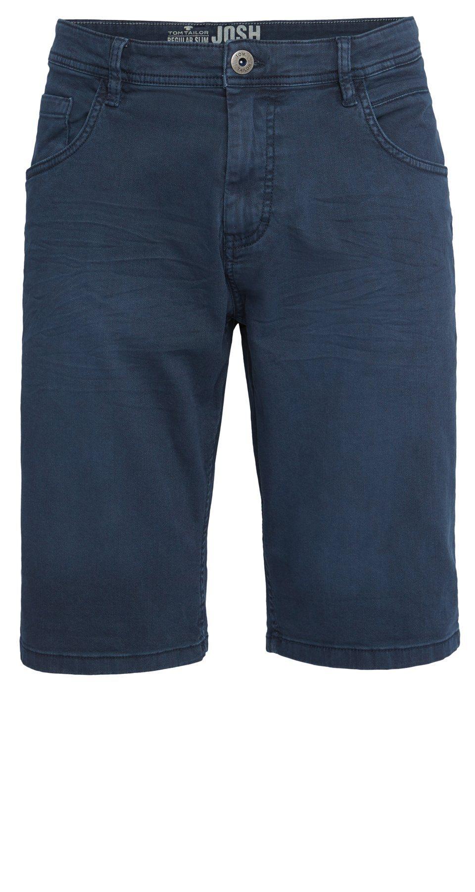 Herren Tom Tailor Jeansbermudas Jim Slim Bermuda blau | 04059491801753