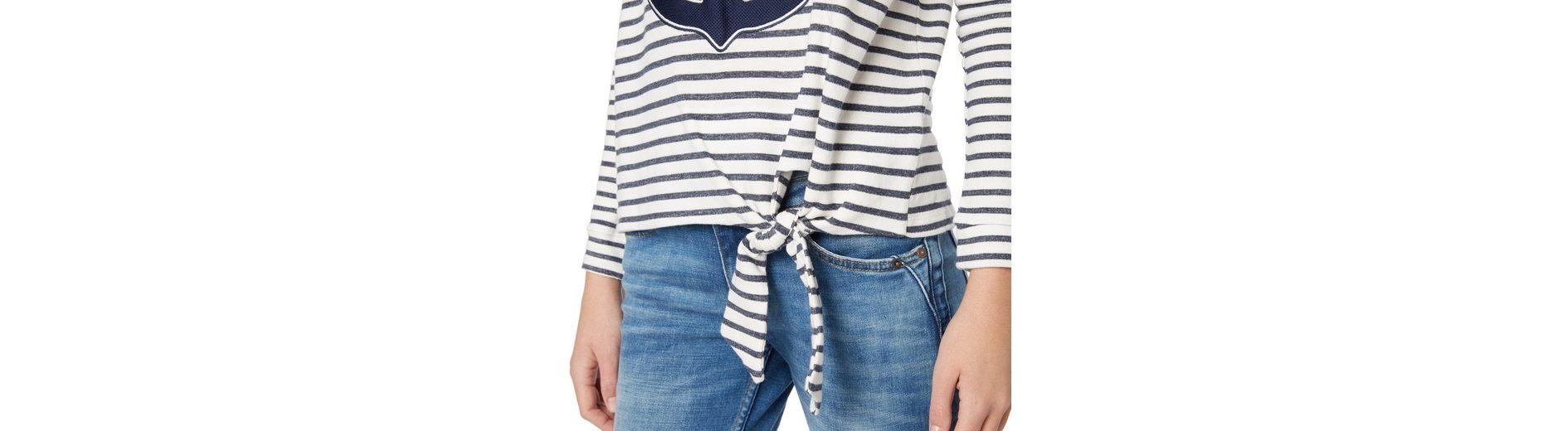 2018 Online Tom Tailor Denim Sweatshirt mit Knoten-Detail Verkauf Bestseller Billig Zahlen Mit Paypal Rabatt Neuesten Kollektionen Günstig Online Kaufen dP0olvCC