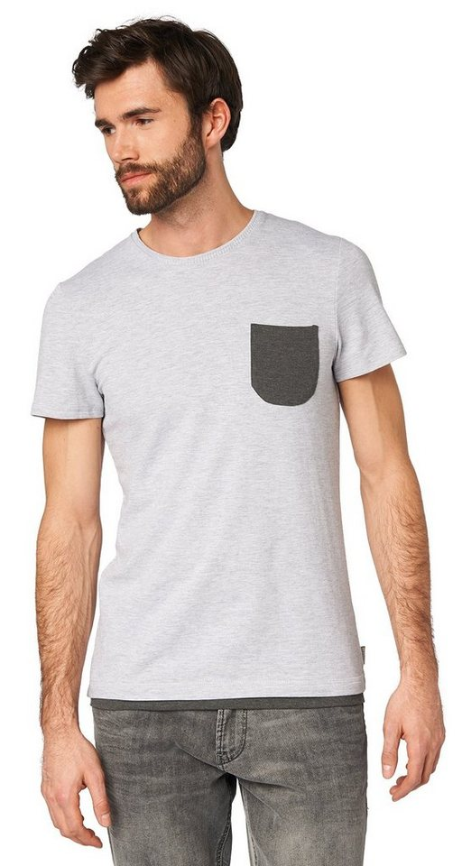 tom tailor t shirt gestreift mit brusttasche otto. Black Bedroom Furniture Sets. Home Design Ideas
