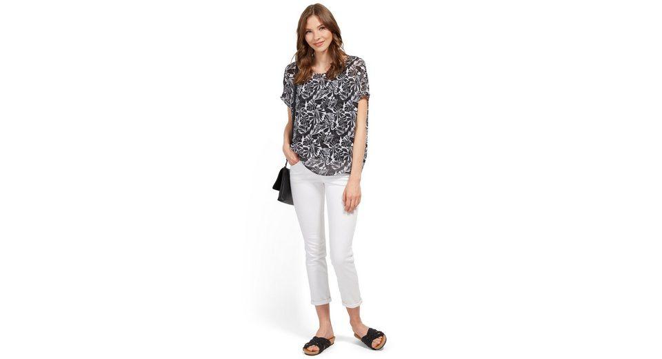 Tom Tailor Shirtbluse mit gemustertem Overlayer Rabatt-Codes Online-Shopping T4gdXXgF