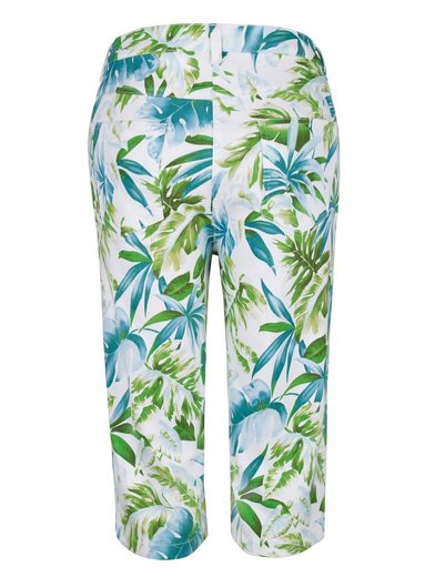 Paola Bermuda With Summery Palm Dessin