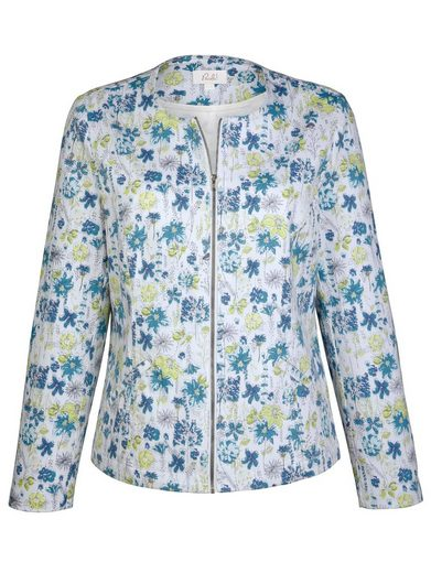 Paola Denim Jacket With Floral Print