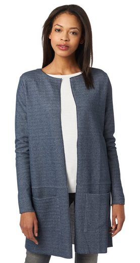 Tom Tailor Sweat Jacket Long Cardigan With Shawl Collar