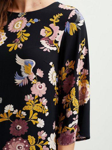 Vila Gemustertes 3/4-Ärmel- Kleid