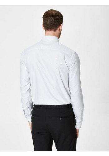 - Herren Selected Homme In regulärer Passform geschnittenes Hemd weiß | 05713721431590