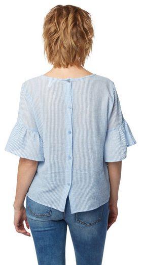 Tom Tailor Denim Shirtbluse Cropped mit Volants