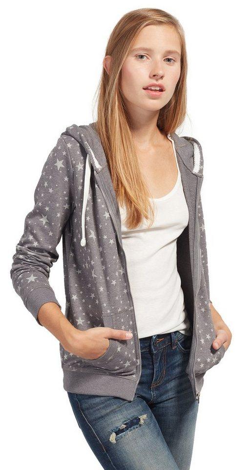 tom tailor denim sweatshirt sweat jacke mit sternen online kaufen otto. Black Bedroom Furniture Sets. Home Design Ideas