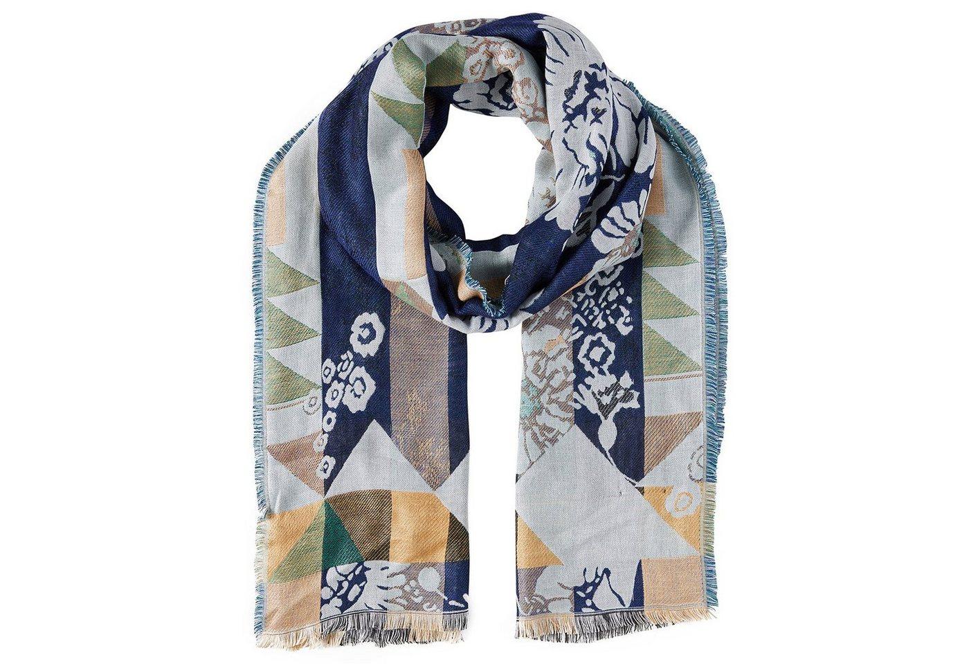 Tom Tailor Strickschal »gemusterter Schal mit Fransen« - Preisvergleich
