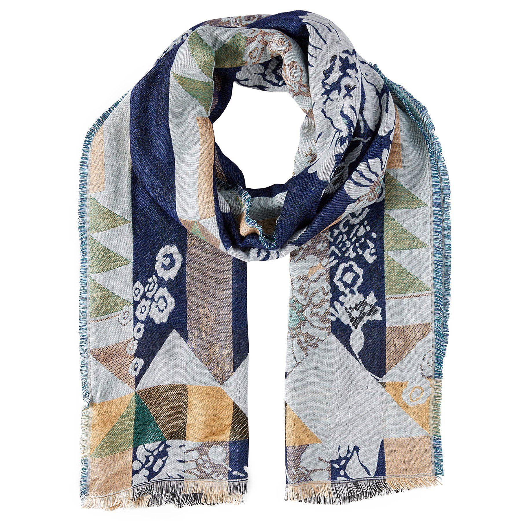 Tom Tailor Strickschal »gemusterter Schal mit Fransen«