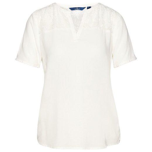 Tom Tailor Shirtbluse mit Chiffon-Einsatz