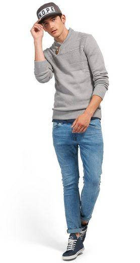 Tom Tailor Denim Schalkragenpullover mit Schalkragen