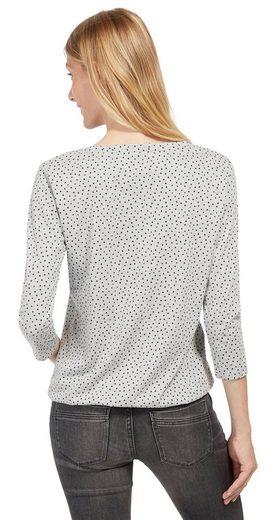 Tom Tailor Shirtbluse mit Punkten und Elastikbund