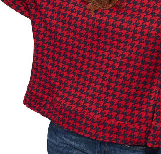 Tom Tailor 3/4-Arm-Shirt mit Muster im lässigen Schnitt